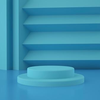Holographische geometrische 3d-bühne für die produktplatzierung