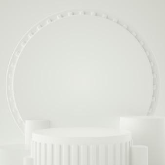 Holographische geometrische 3d-bühne für produktplatzierung mit hintergrund