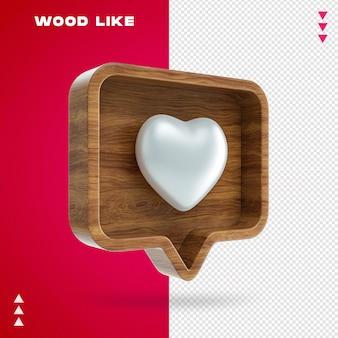 Holz wie blase in 3d-rendering isoliert