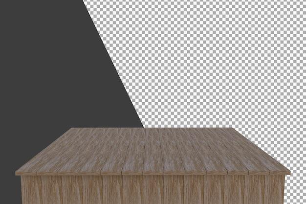 Holzbrett 3d-rendering isoliert