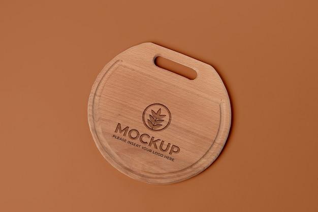 Holzschneidebrett-mock-up-design