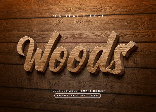 Holztexteffekt im 3d-stil