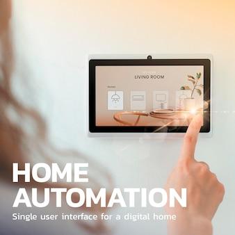 Home automation technology template psd innovation social media post