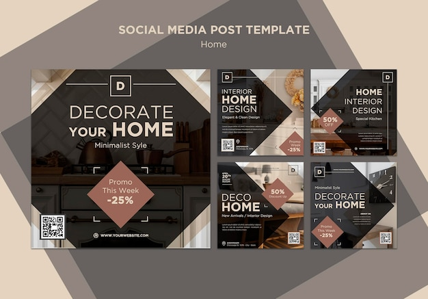Home-deco-verkauf social-media-beiträge
