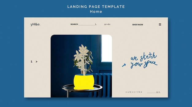 Home decoration landingpage vorlage