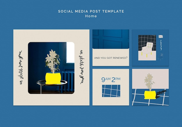 Home decoration social media post