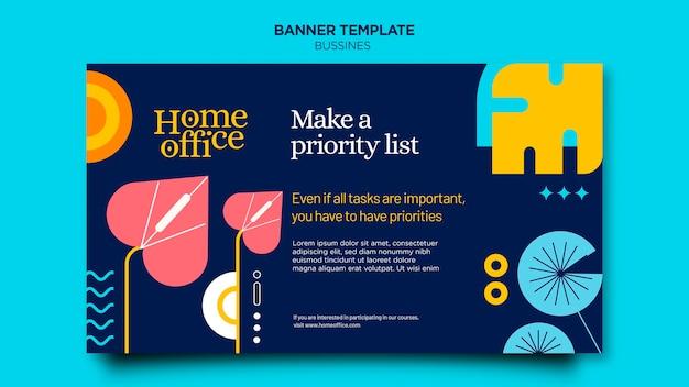 Home-office-banner-vorlage