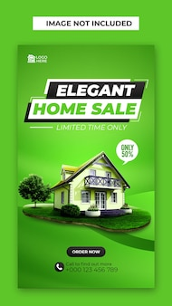 Home sale social media und instagram post vorlage