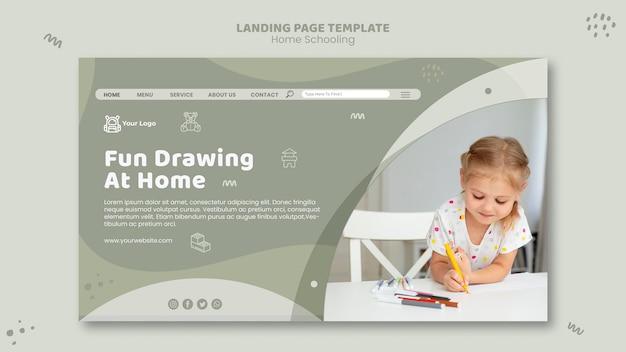 Home schooling landing page vorlage