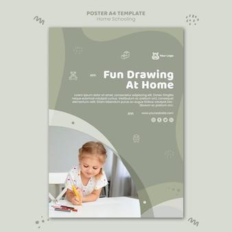 Home schooling poster vorlage