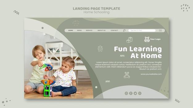 Home schooling vorlage landing page