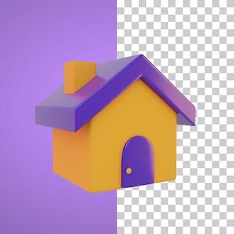Home-symbol 3d-darstellung