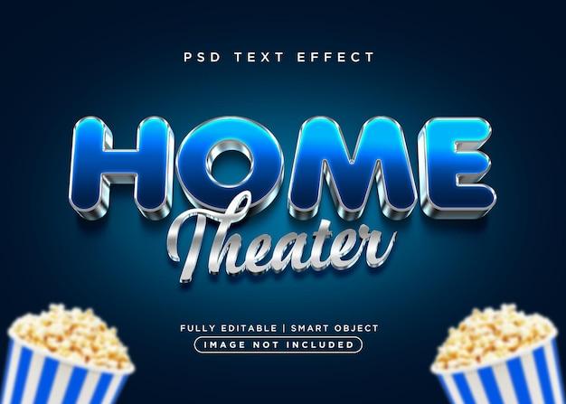 Home-text-effekt im 3d-stil