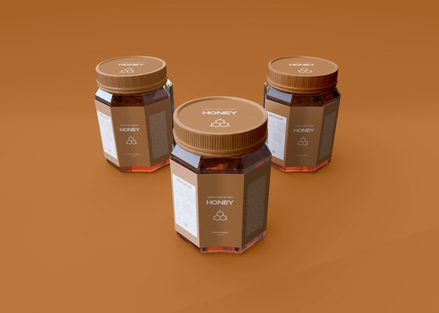 Honey jar mockup