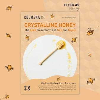 Honey shop flyer vorlage