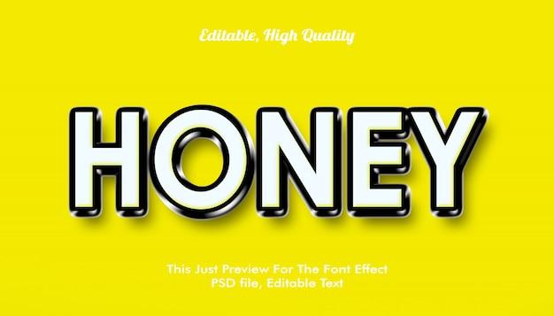 Honig, modern gestaltete 3d-trendschrift-effekt