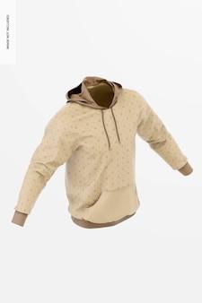 Hoodie-modell, isometrische ansicht von rechts