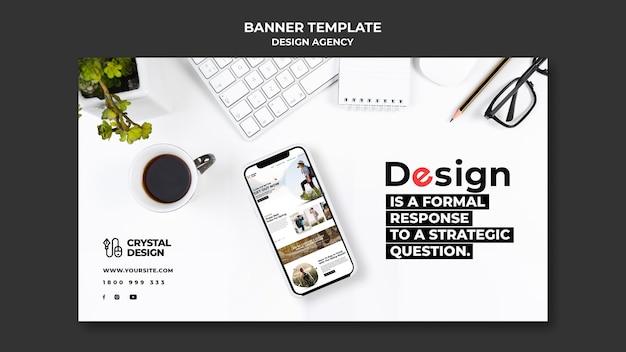 Horizontale banner-vorlage der designagentur