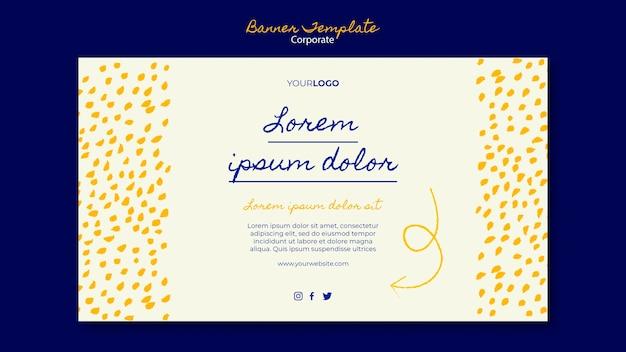 Horizontale banner-vorlage für das unternehmensgeschäft