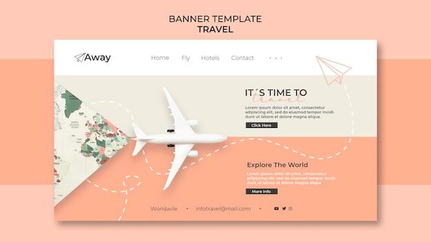 Horizontale banner-vorlage für die reisezeit