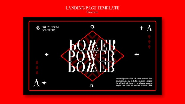 Horizontale banner-vorlage für esoterische mystik