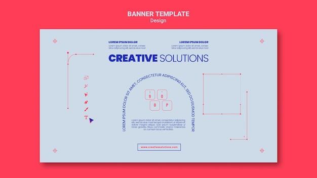 Horizontale banner-vorlage für kreative geschäftslösungen