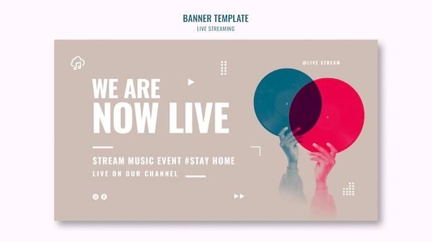 Horizontale banner-vorlage für live-streaming