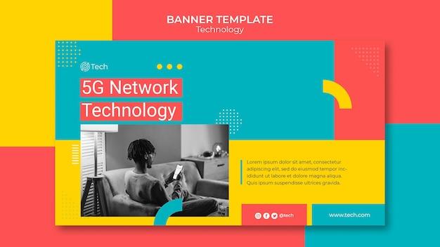 Horizontale banner-vorlage für technologie