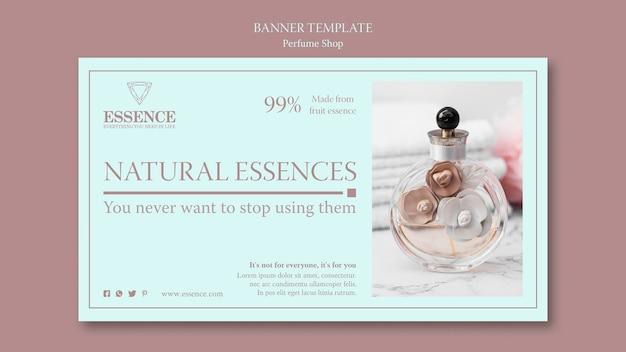 Horizontale bannerschablone für parfüm