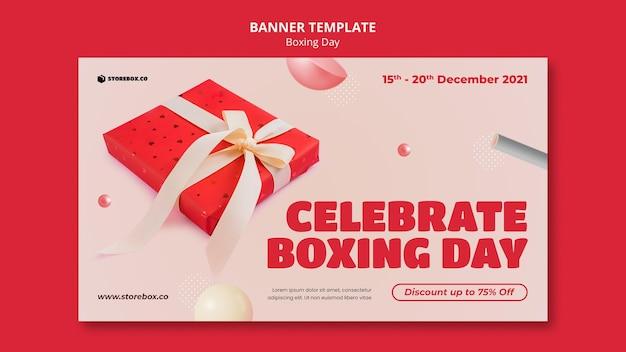 Horizontale bannervorlage für den zweiten weihnachtsfeiertag