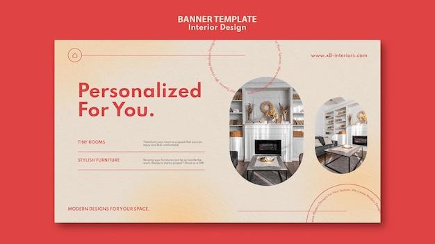 Horizontale bannervorlage für die innenarchitektur