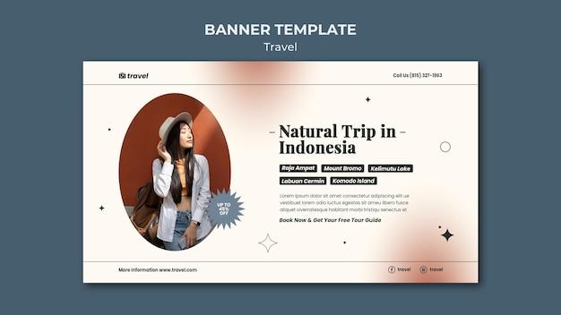 Horizontale bannervorlage für die reisezeit