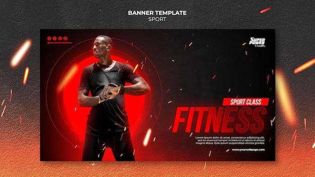 Horizontale bannervorlage für fitnesskurse