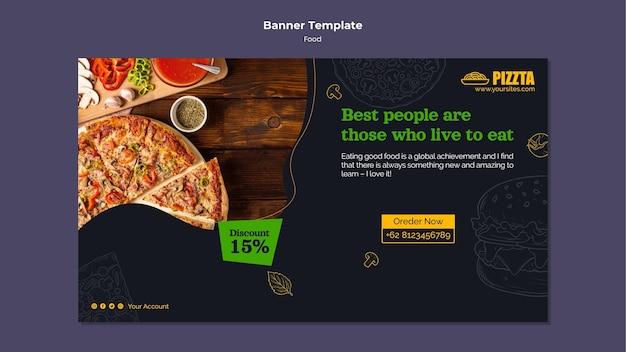 Horizontale bannervorlage für gutes essen