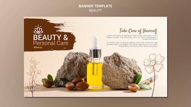 Horizontale bannervorlage für körperpflege und schönheit
