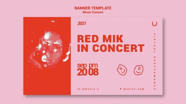 Horizontale bannervorlage für musikkonzerte