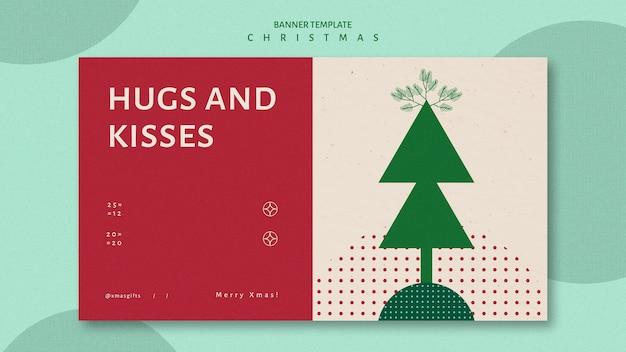 Horizontale fahnenschablone für weihnachten