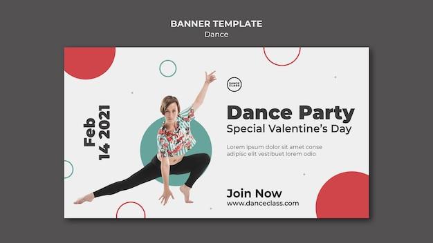 Horizontales banner der tanzklasse