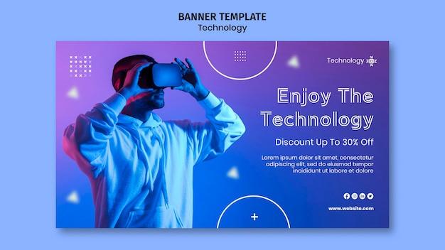 Horizontales banner der virtuellen realität