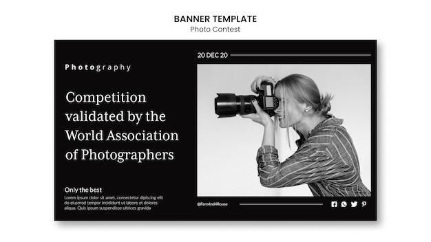Horizontales banner des fotowettbewerbs