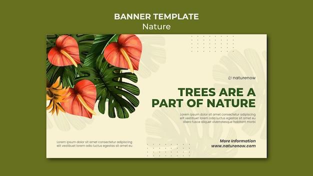 Horizontales banner des naturschutzes