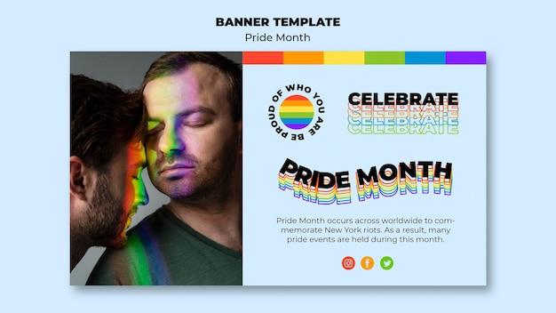 Horizontales banner des pride-monats