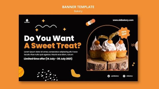 Horizontales banner für bäckereien