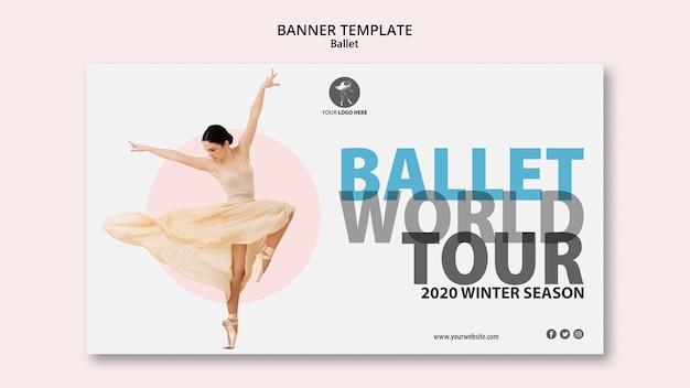 Horizontales banner für ballettaufführung