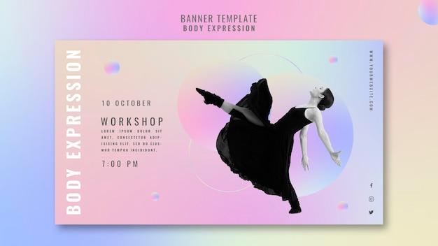 Horizontales banner für body expression workshop