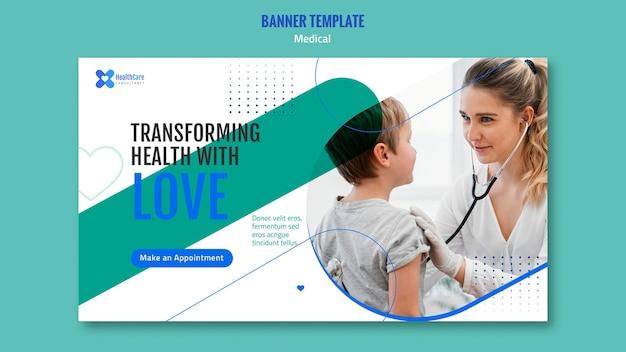 Horizontales banner für das gesundheitswesen