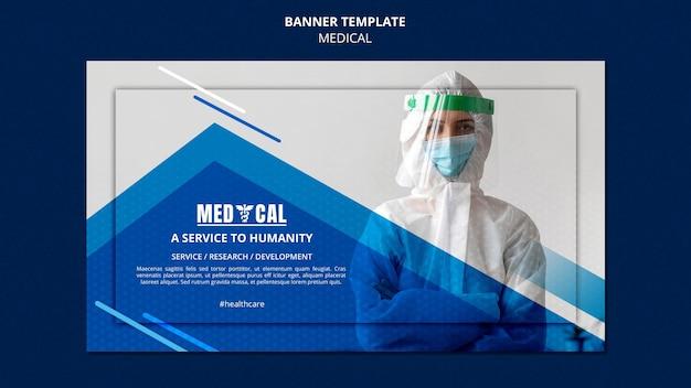 Horizontales banner für die coronavirus-impfung