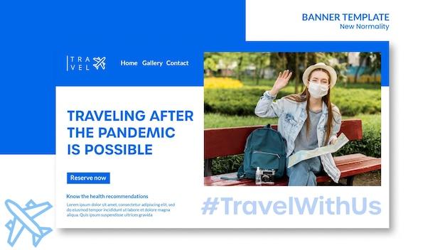 Horizontales banner für die reisebuchung