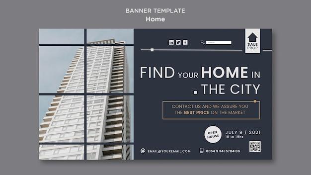 Horizontales banner für die suche nach dem perfekten zuhause