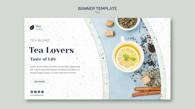 Horizontales banner für die teezeit